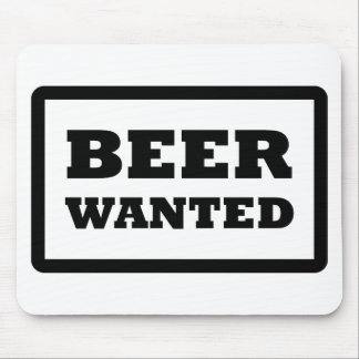 beer wanted icon mouse pad