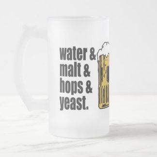 Beer. Water & Malt & hops & yeast. Beer Mug