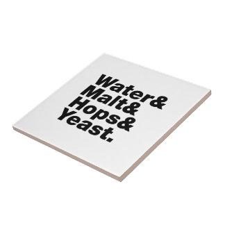 Beer = Water & Malt & Hops & Yeast. Ceramic Tile