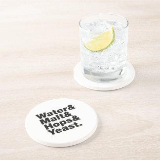 Beer = Water & Malt & Hops & Yeast. Drink Coasters
