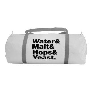 Beer = Water & Malt & Hops & Yeast. Duffle Bag