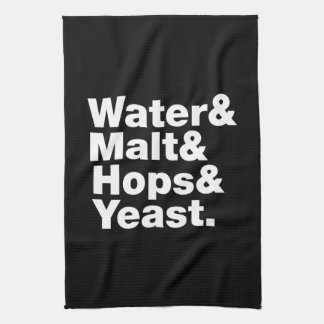 Beer = Water & Malt & Hops & Yeast. Kitchen Towel