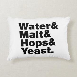 Beer = Water & Malt & Hops & Yeast. Accent Pillow