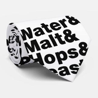 Beer = Water & Malt & Hops & Yeast. Neck Tie