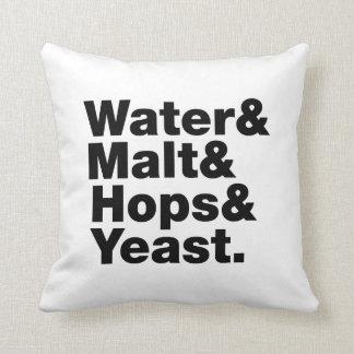Beer = Water & Malt & Hops & Yeast. Pillow