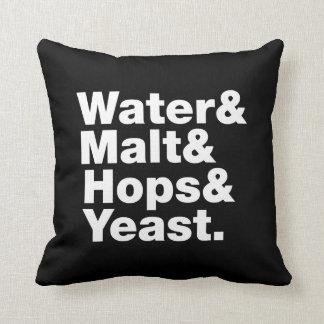 Beer = Water & Malt & Hops & Yeast. Throw Pillow