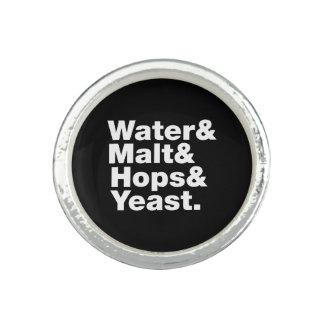 Beer = Water & Malt & Hops & Yeast. Rings