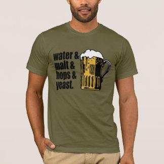 Beer. Water & Malt & hops & yeast. Unisex Fit Tee
