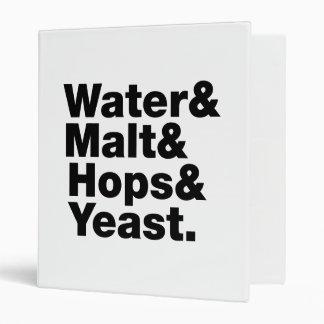Beer = Water & Malt & Hops & Yeast. Vinyl Binder