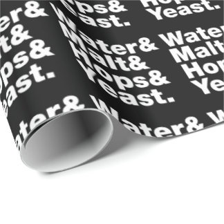 Beer = Water & Malt & Hops & Yeast. Wrapping Paper
