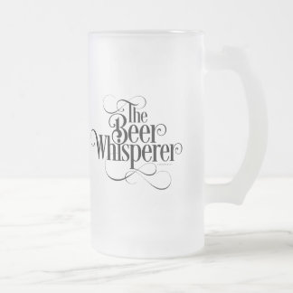 Beer Whisperer Frosted Glass Beer Mug