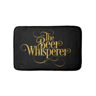 Beer Whisperer (gold) Bathroom Mat