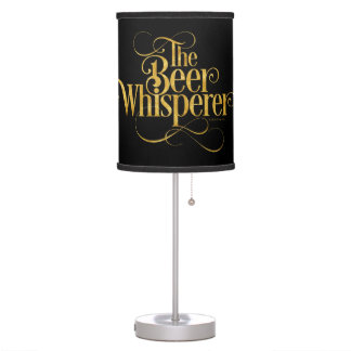 Beer Whisperer (gold) Desk Lamp