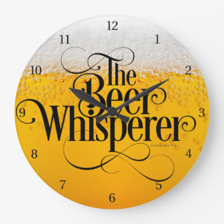 Beer Whisperer Large Clock