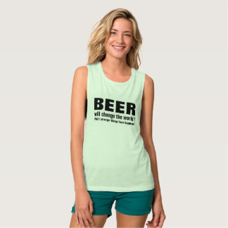 beer will change the world funny t-shirt design