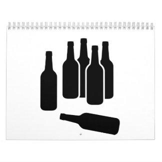 Beer Wine Bottles Calendar
