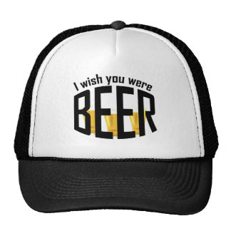 Beer Wish You Were Funny Hat