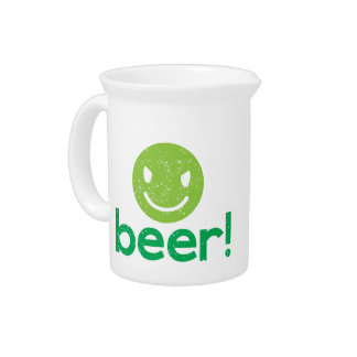 beer! with crazy face drink pitcher