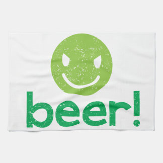 beer! with crazy face hand towels