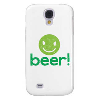 beer! with crazy face samsung galaxy s4 cover