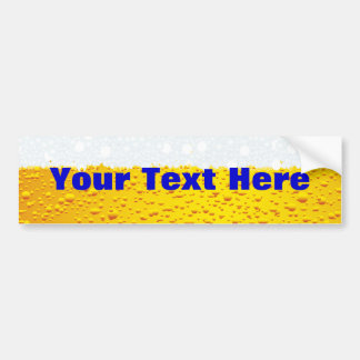 Beer with customized text car bumper sticker