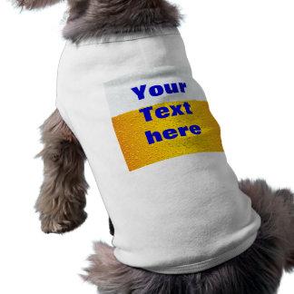 Beer with customized text pet tee shirt