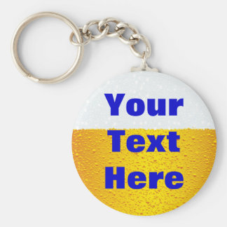 Beer with customized text key chain