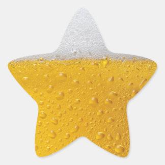 Beer with foam star sticker