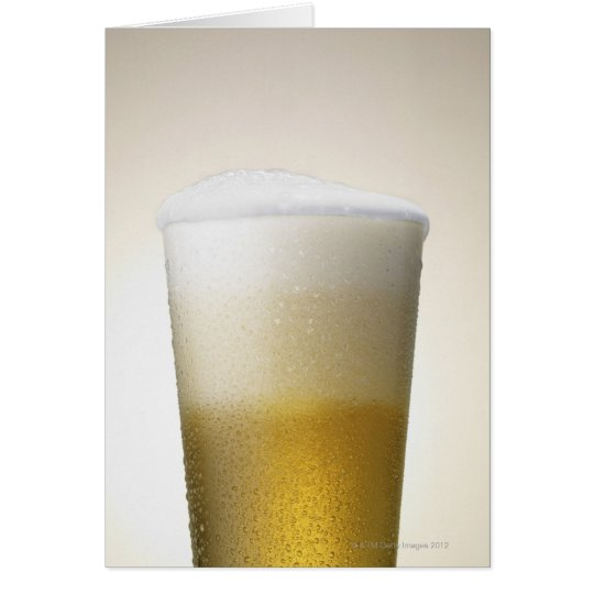 beer with foamy head card