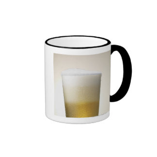 beer with foamy head ringer mug