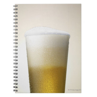 beer with foamy head spiral notebook