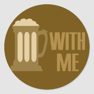 Beer With Me custom stickers