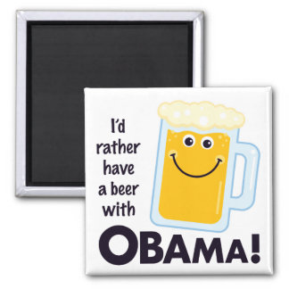 Beer With Obama Magnet