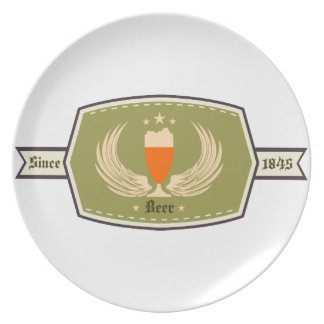 Beer with Wings Logo Snack Plate