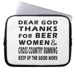 Beer Women and Cross Country Running Laptop Sleeves