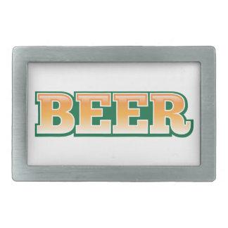 Beer word rectangular belt buckle