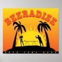Beeradise Beer Pong Poster