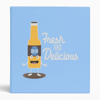Beerbottle fresh and delicious Zdm8l 3 Ring Binder