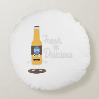 Beerbottle fresh and delicious Zdm8l Round Pillow