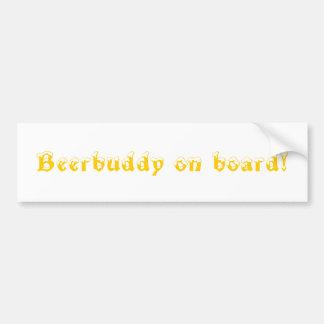 beerbuddy on board! car bumper sticker