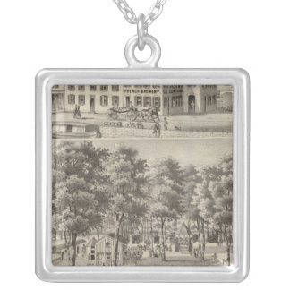 Beergarden and brewery of CL Centlivre Silver Plated Necklace