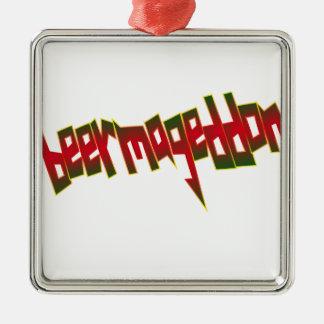 Beermageddon Metal Ornament