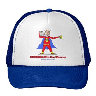 Beerman to the Rescue!  Beer is Good. Trucker Hat