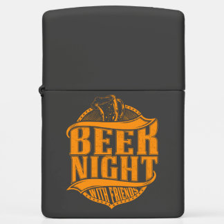 BeerNight with friends Chrome Pocket Lighter