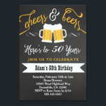 "Beers and Cheers Birthday Invitation 30th 40th etc<br><div class=""desc"">matching party items available</div>"