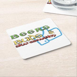 Beers Buds and skateboarding coasters