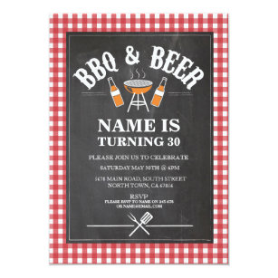 beer and bbq party invitations zazzle