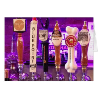 "BEERS ON TAP SAY ""TIME TO PARTY BIRTHDAY STYLE"" CARD"