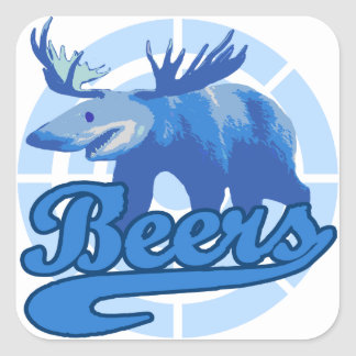 Beers Square Sticker