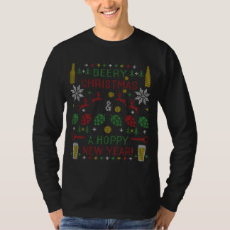 Beery Christmas Beer Ugly Christmas Sweater T Shirt